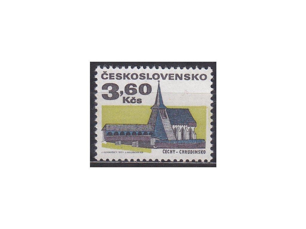 1971, 3.60Kčs Architektura, papír oz, Nr.1879xb, **