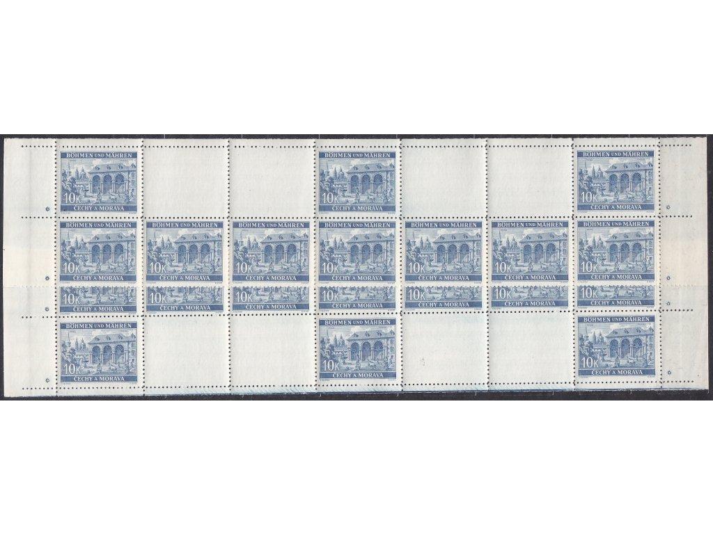 1940, 10K Praha, H + D pás, hvězdička, Nr.48, **