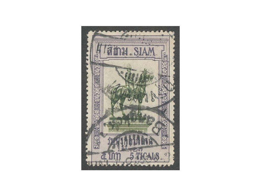 Thajsko, 1908, 2 Ticals Panovník, razítkované, dv