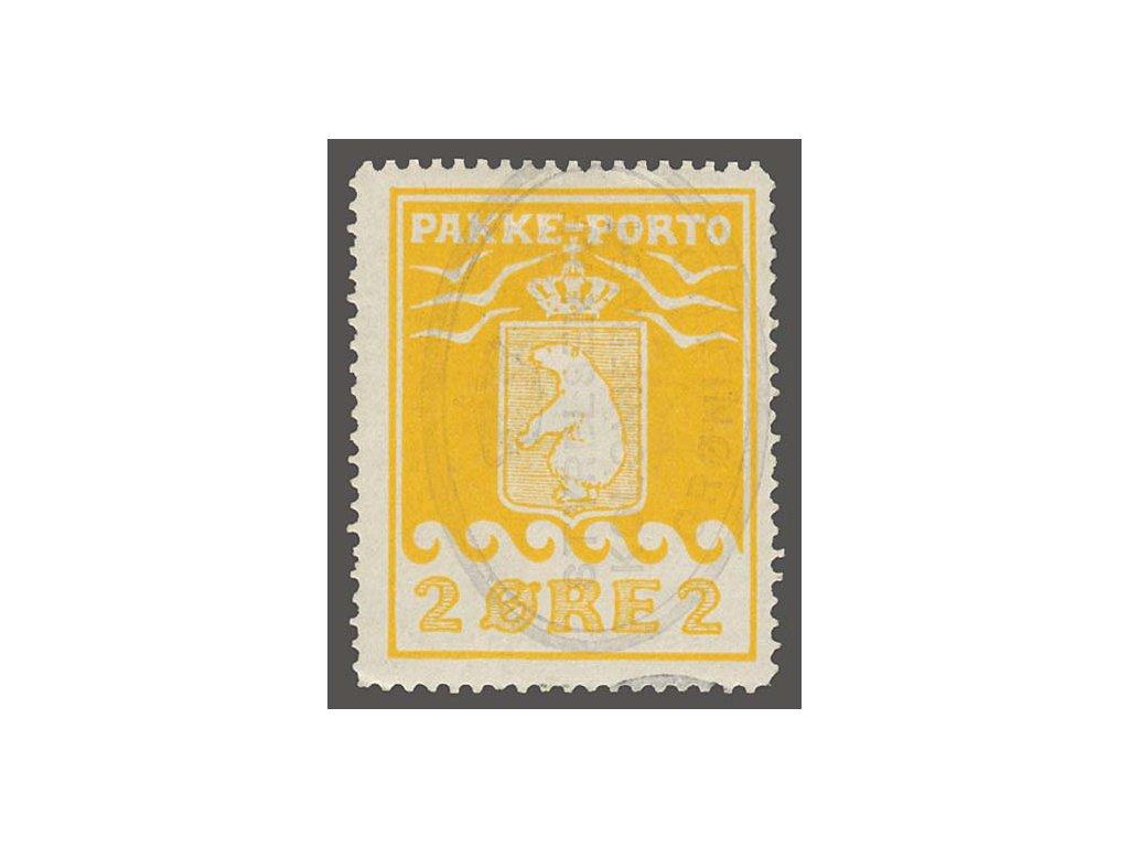 Grónsko, 1915, 2Q Medvěd, MiNr.5A, razítkované