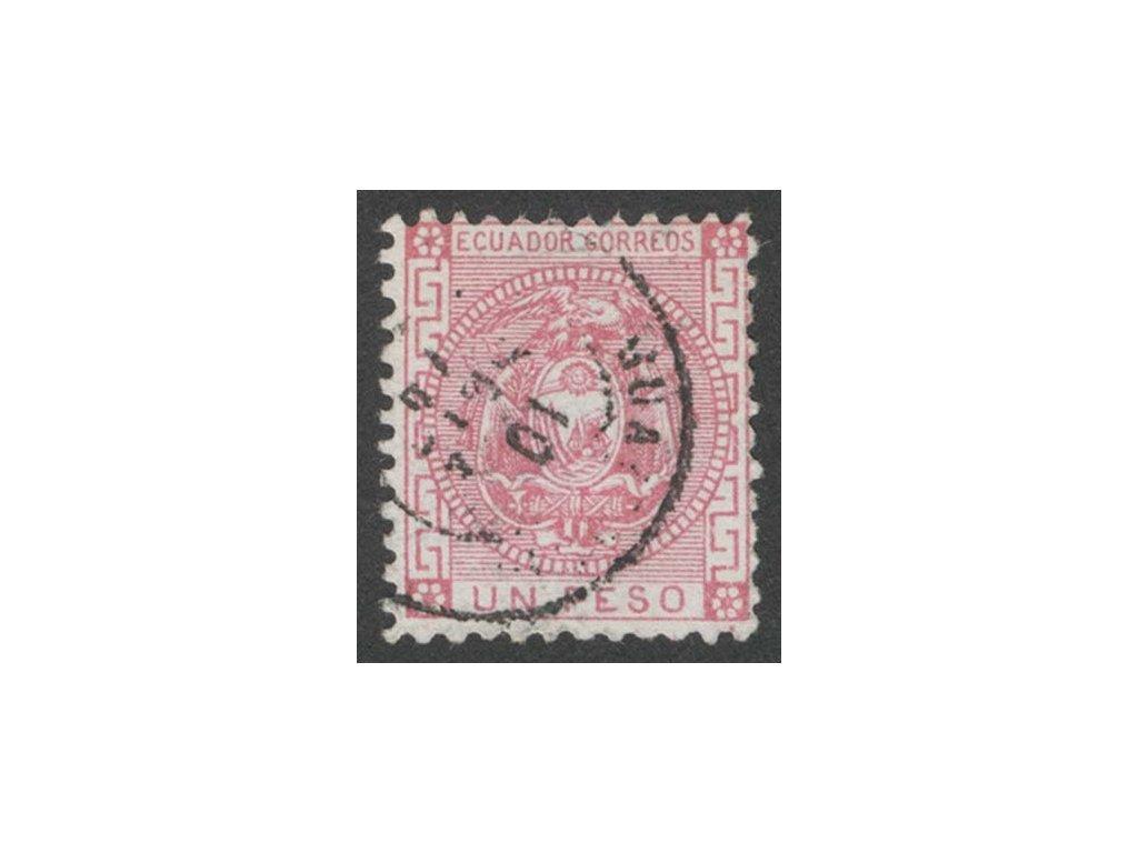 Ecuador, 1872, UN Peso Znak, MiNr.7, razítkované, dv