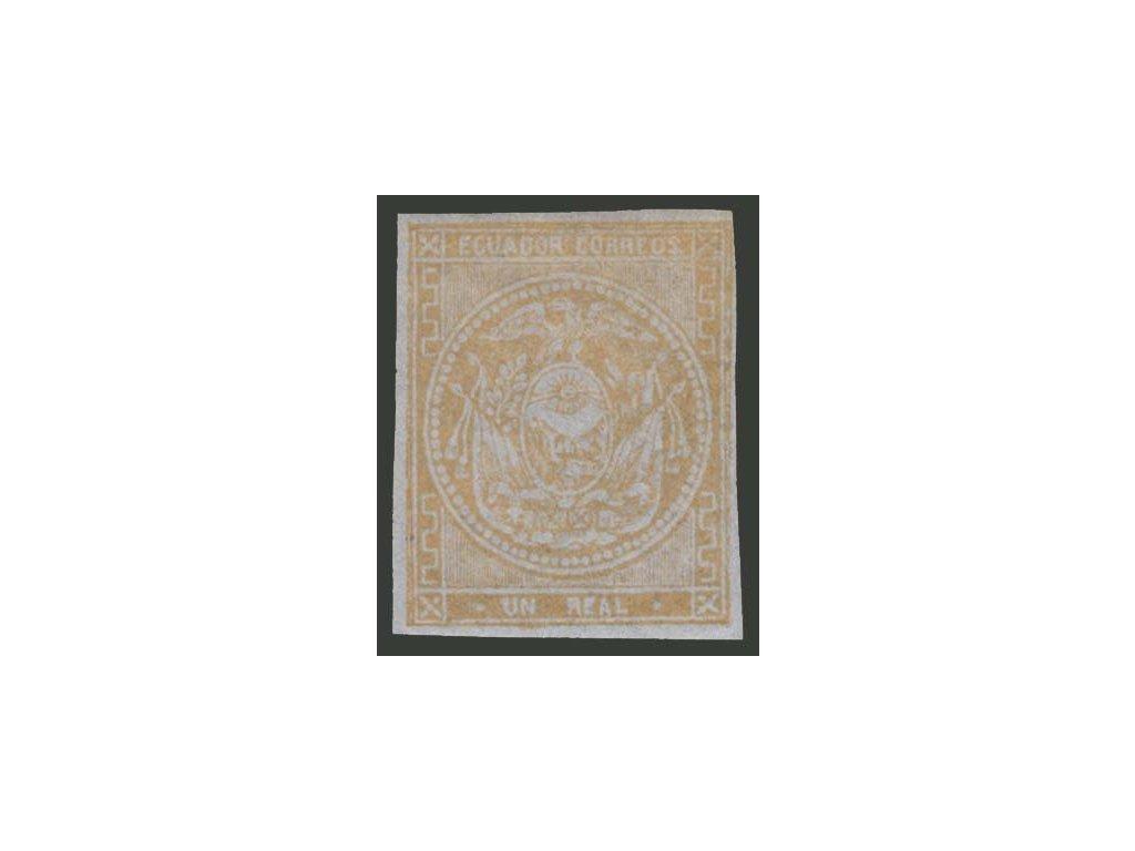 Ecuador, 1865, 1R Znak, MiNr.3, * po nálepce
