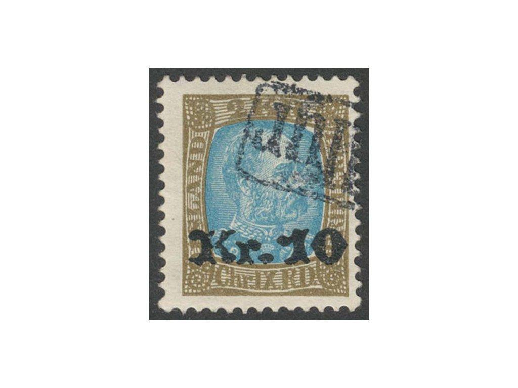 1929, 10Kr/2Kr Christian, MiNr.124, razítkované