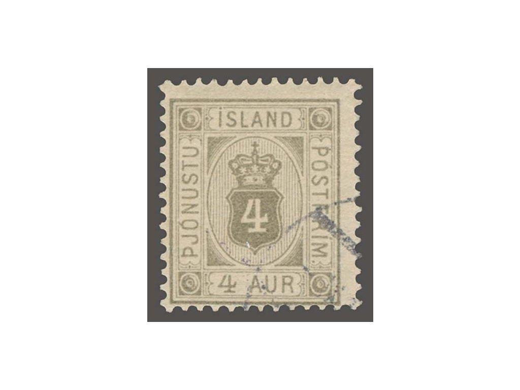 1900, 4A služební, MiNr.9, razítkované