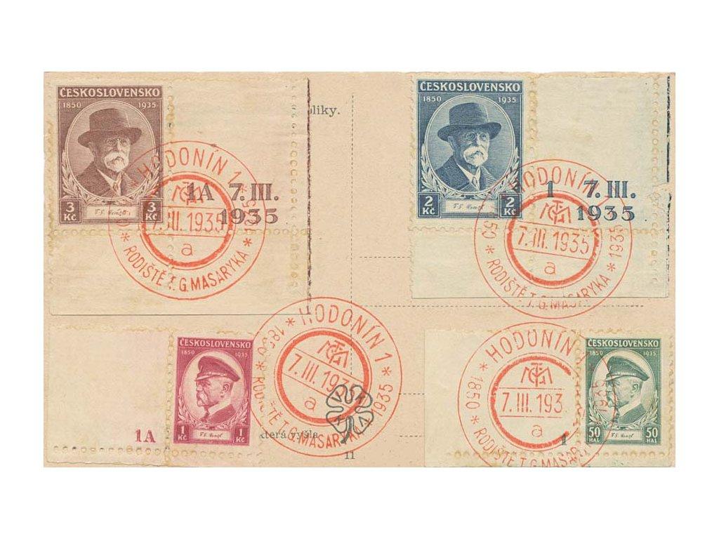 1935, Praha 10 Hrad, Narozeniny T.G.Masaryk, pohlednice
