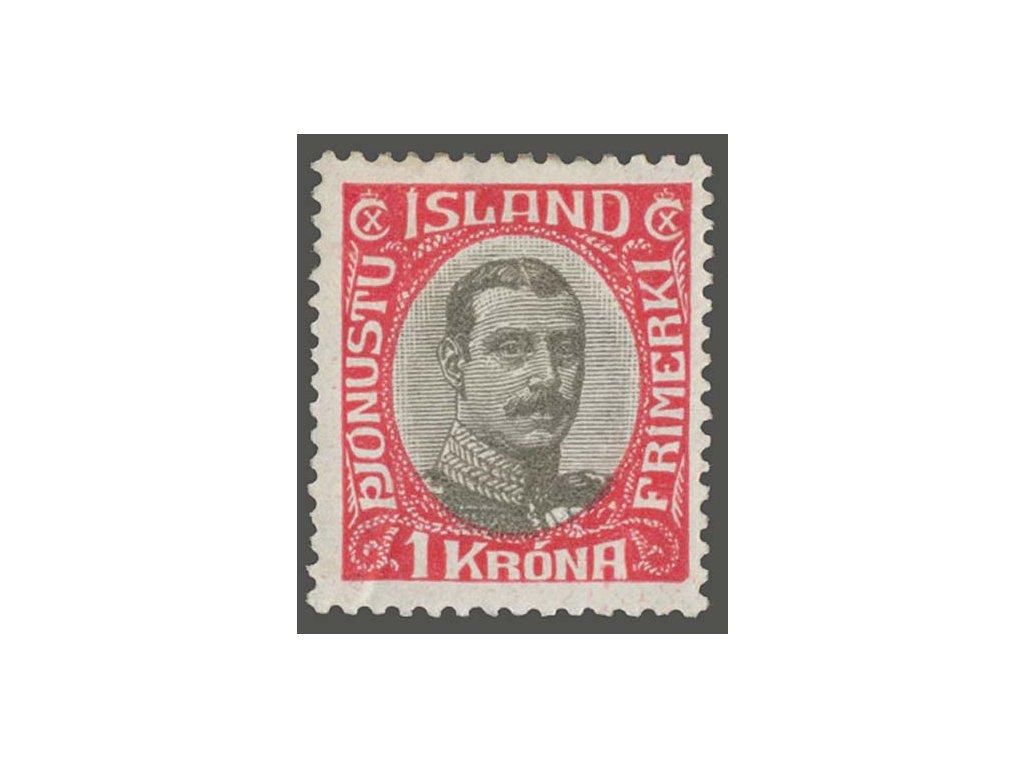 1920, 1Kr služební, MiNr.40, * po nálepce