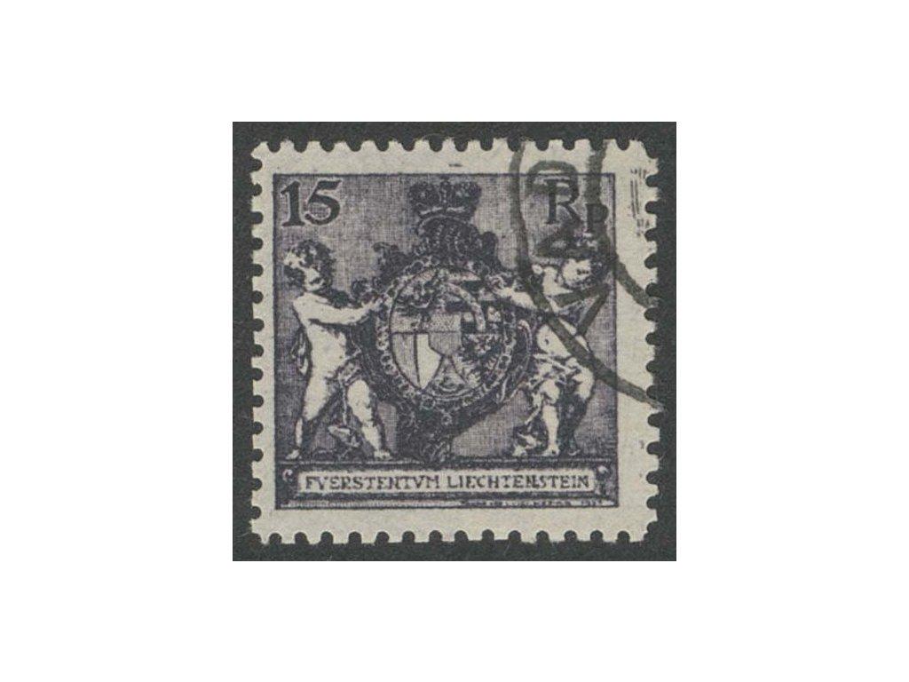 1921, 15Rp Znak, MiNr.52B, razítkované