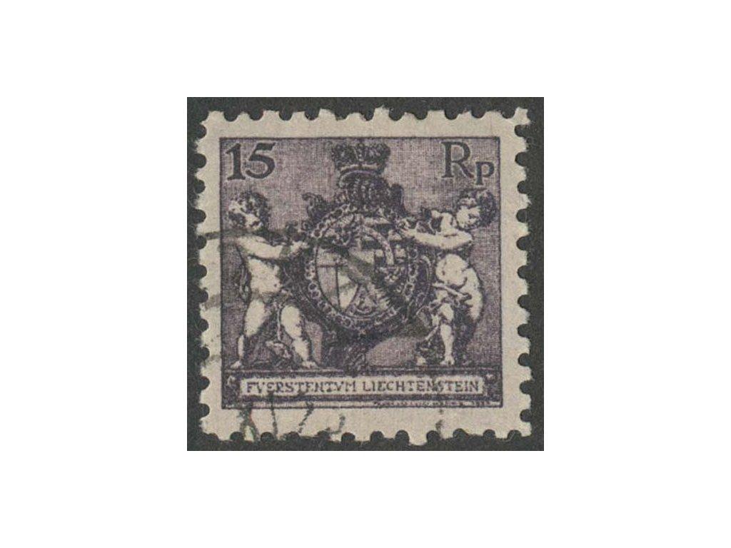 1921, 15Rp Znak, MiNr.52A, razítkované