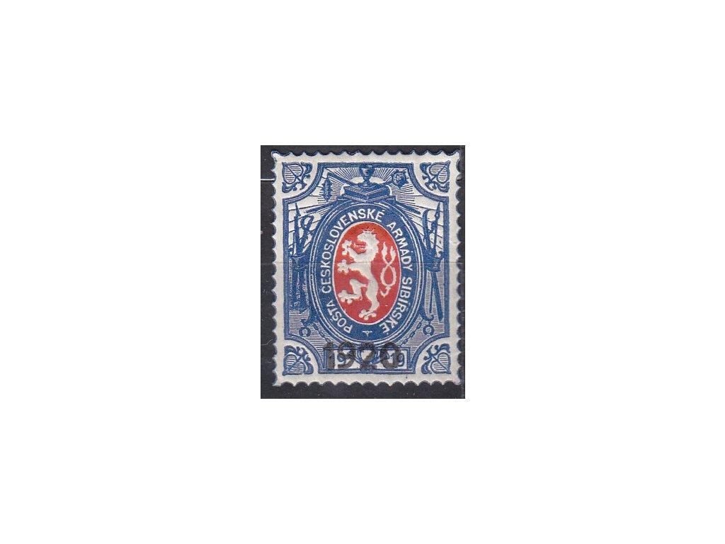 1Rbl Lvíček, přítisk 1920, malá šavle, III.náklad, Nr.PP6, **