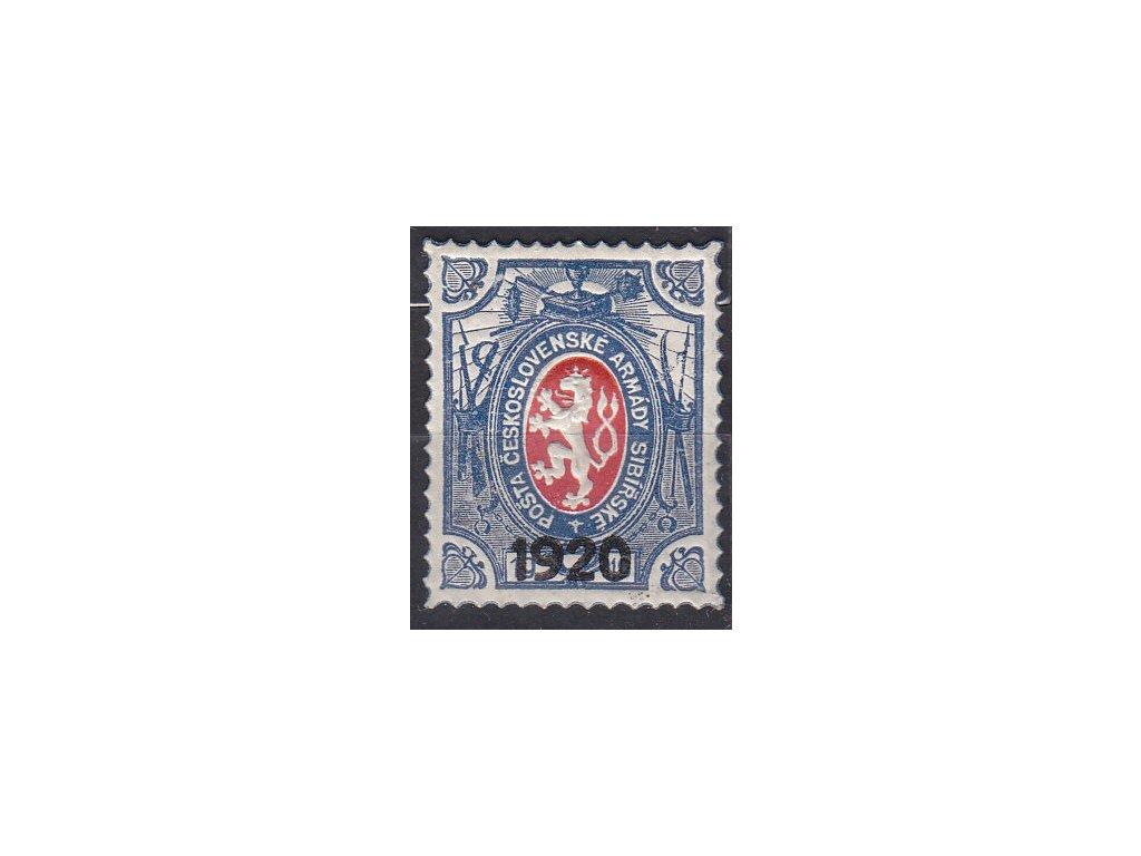 1Rbl Lvíček, přítisk 1920, velká šavle, III.náklad, Nr.PP6, **