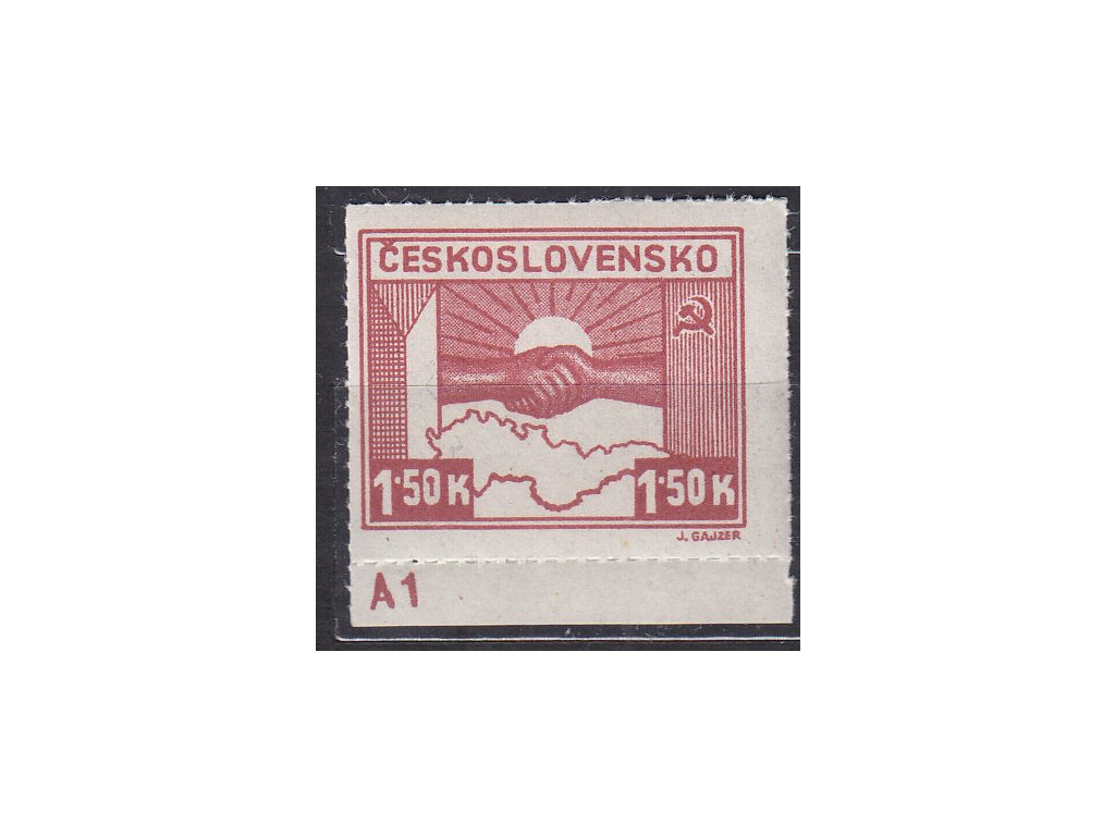 1.50K Košické, kraj. kus s DČ A1, TD 2, Nr.353, **