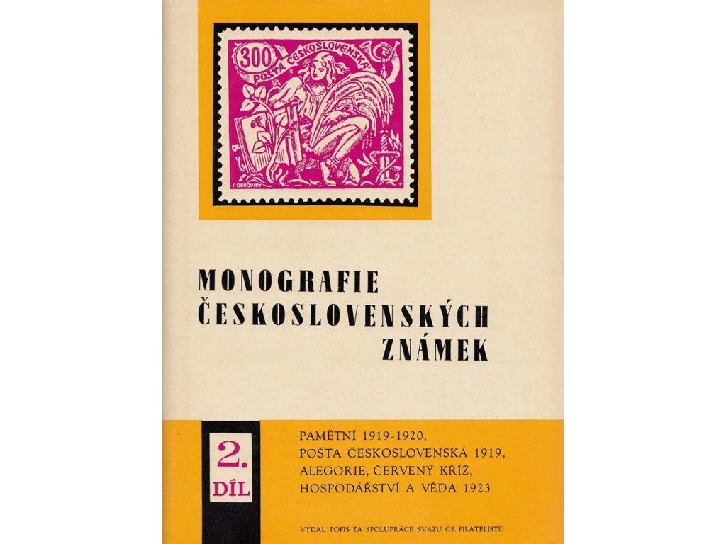 Monografie 2 -známky 1919-1923, zachovalé