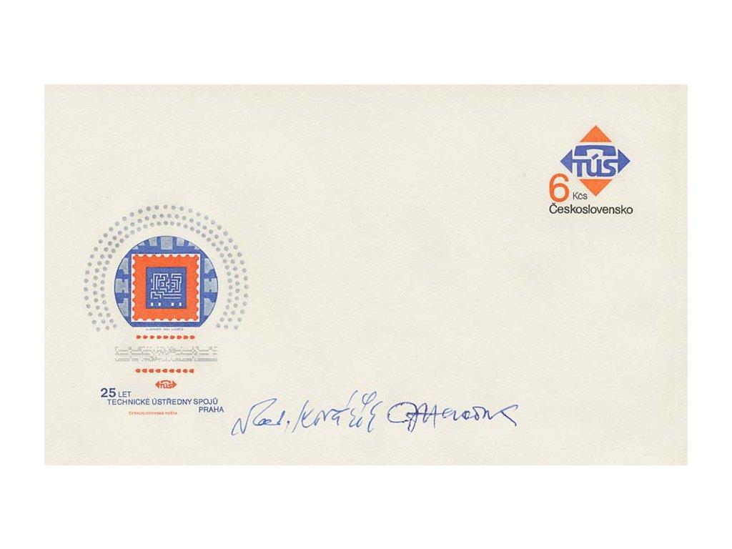 Herčík, Kovařík, podpisy na celinové obálce z roku 1983