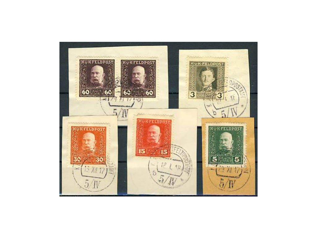 No.5/IV, 5 ks výstřižků, Ra.750bd