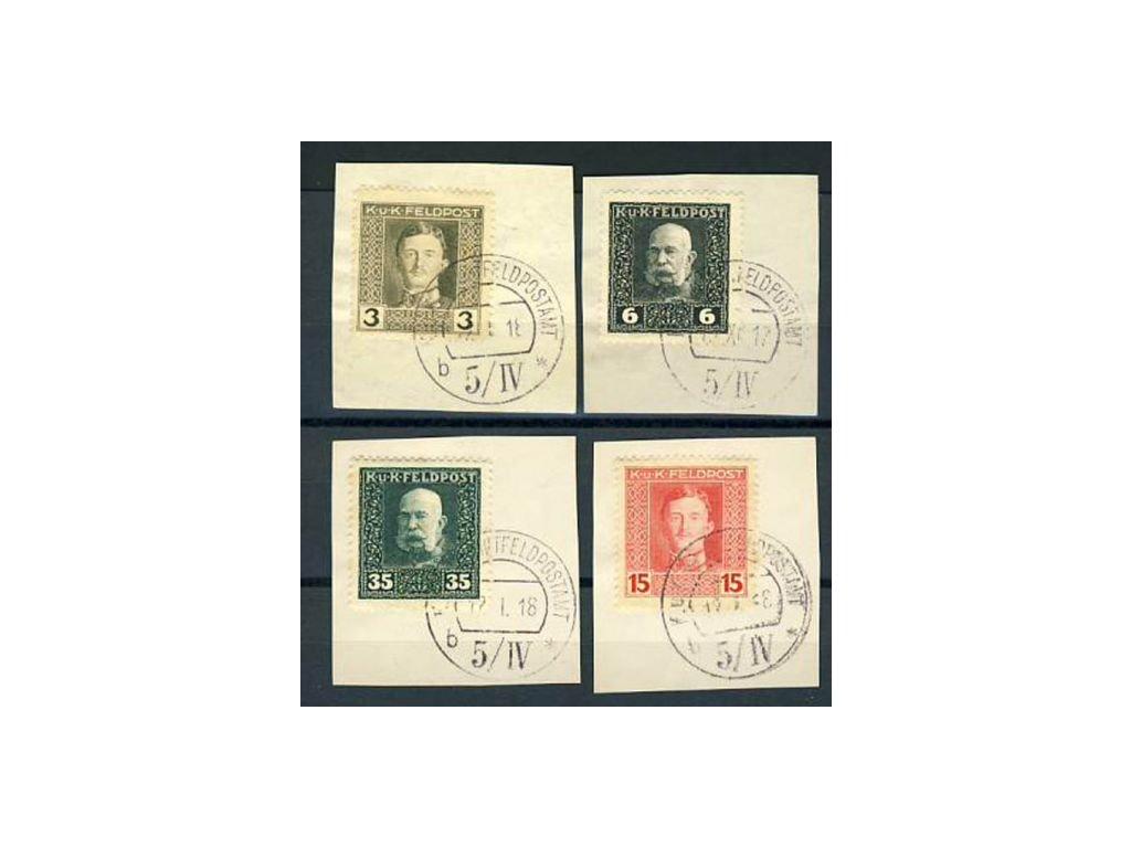 No.5/ IV, 4 ks výstřižků, Ra.600bd