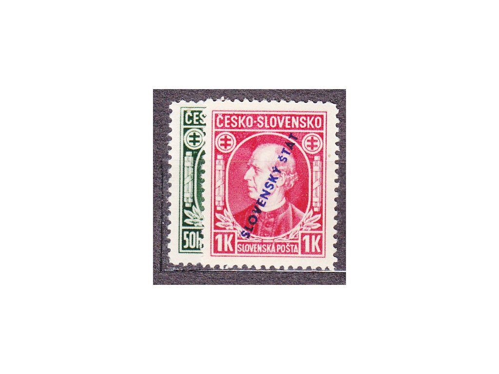 1939, 50h-1Ks Hlinka, série, Nr.23-4, **, ilustrační foto