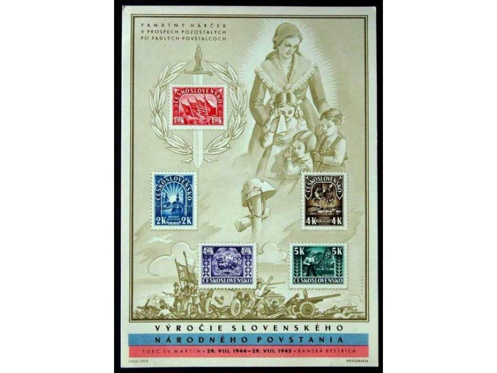 1945, 1.50-5K Partizánský aršík, Nr.A408/4