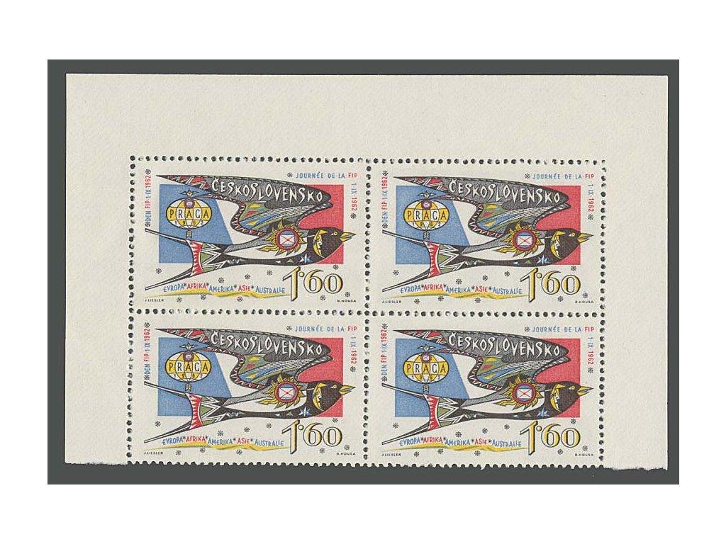 1962, 1.60Kčs Den FIP, 4blok, Nr.1269, **