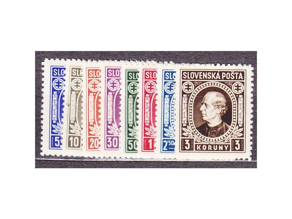 1939, 5h-3Ks Hlinka, série, Nr.25-32, **, ilustrační foto