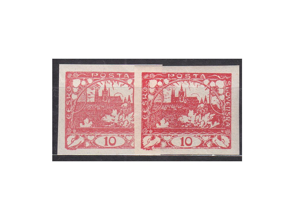 10h červená a tmavě červená, Nr.5,5a, **, ilustrační foto