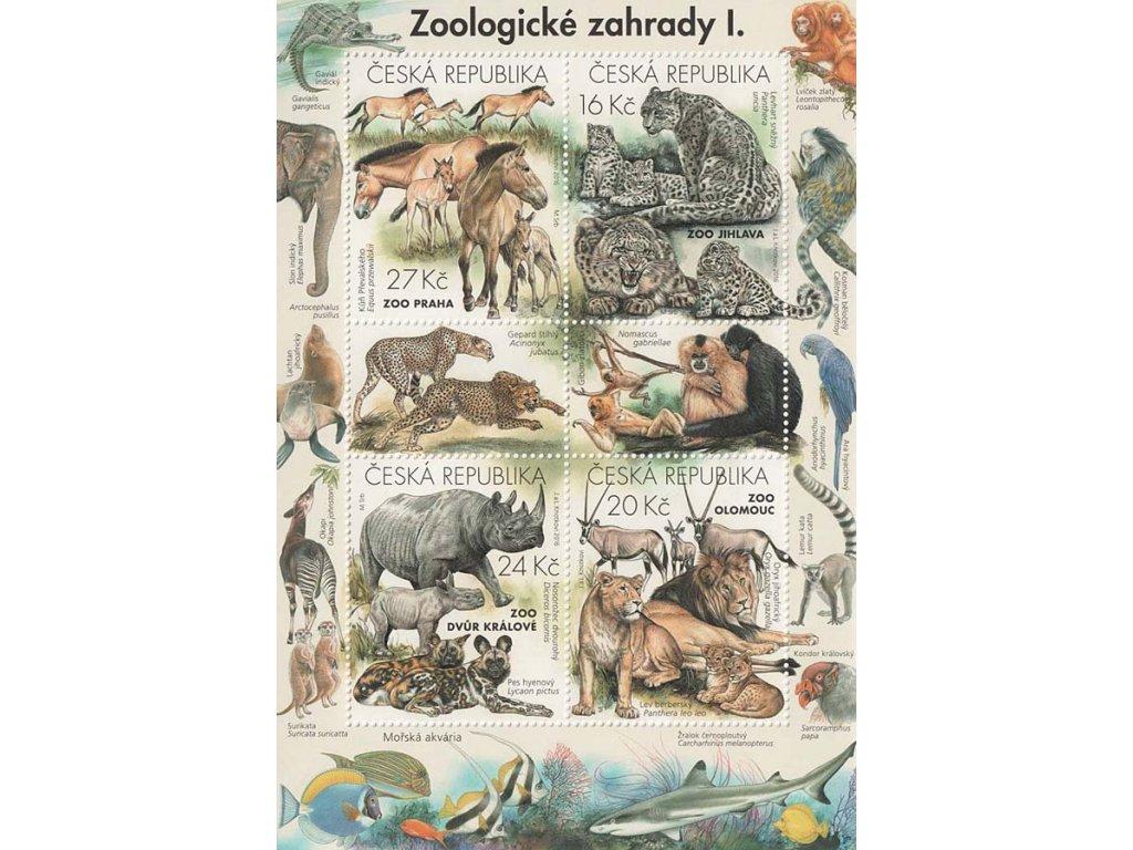 2016, 16-27Kč aršík Zoologické zahrady I., Nr.A894-97, **