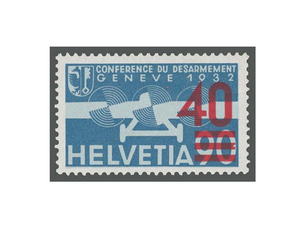 1936, 40C/90C letecká, MiNr.293c, **