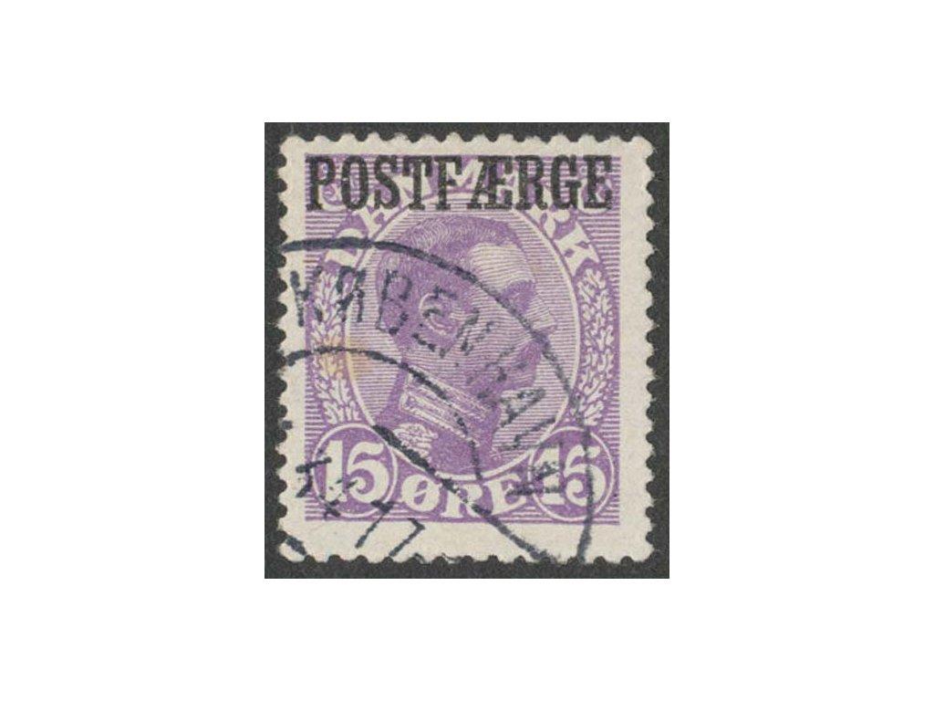 1919, 15Q Paket-Marken, MiNr.2, razítkované, skvrnka