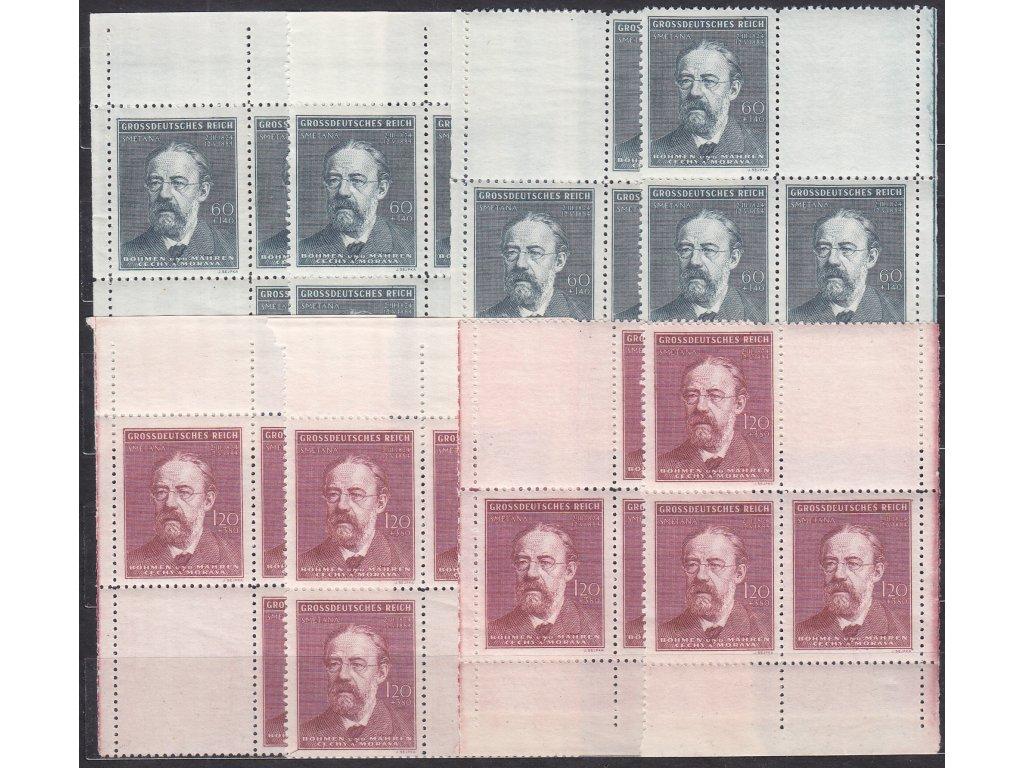 60h-1.20K Smetana, roh. miniatura ve 4bloku, Nr.118-119, **