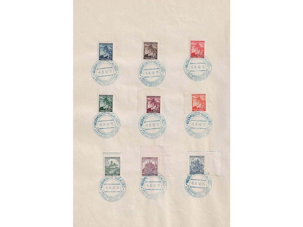 1940, Valašské Meziříčí, Výstava známek, pamětní 2list, A4