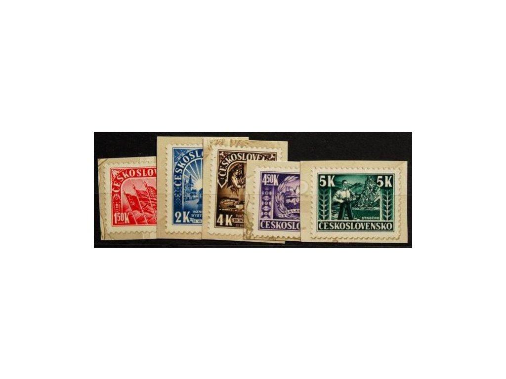 1945, 1.50-5K nezoubkovaná série z Partizánského aršíku, Nr.408-12, (*)