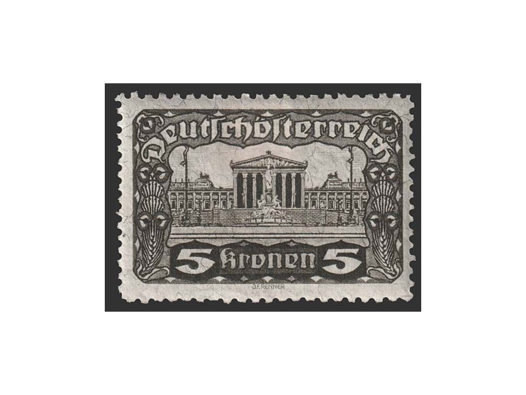 1919, 5 Kr Parlament, L 11 1/2:12 1/2, MiNr.288C, těžší *