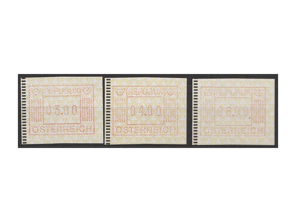 1983, 3, 4 a 6 S automatové známky, MiNr.1, **