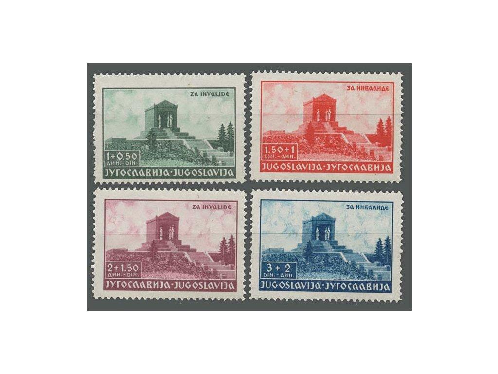 1939, 1-3 Din série Alexandr, MiNr.389-92, **