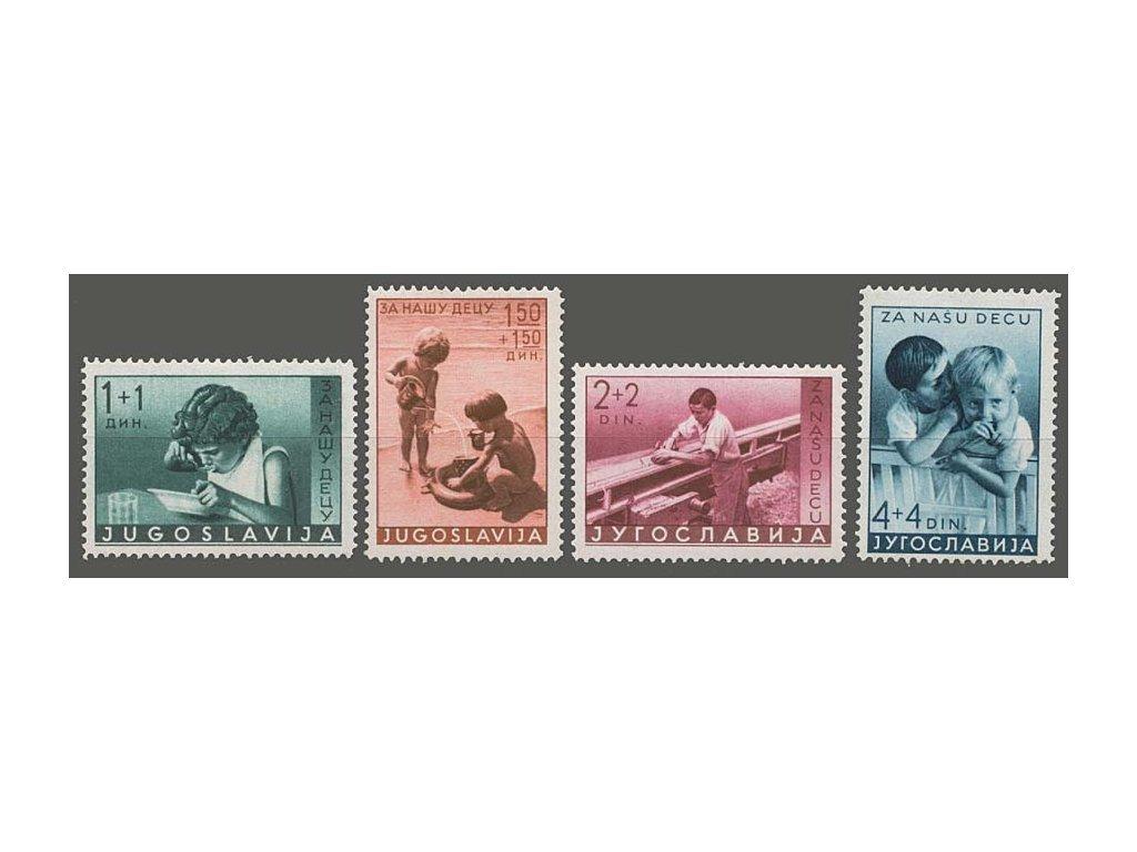 1939, 1-4 Din série Kinderhilfe, MiNr.375-78, **/*