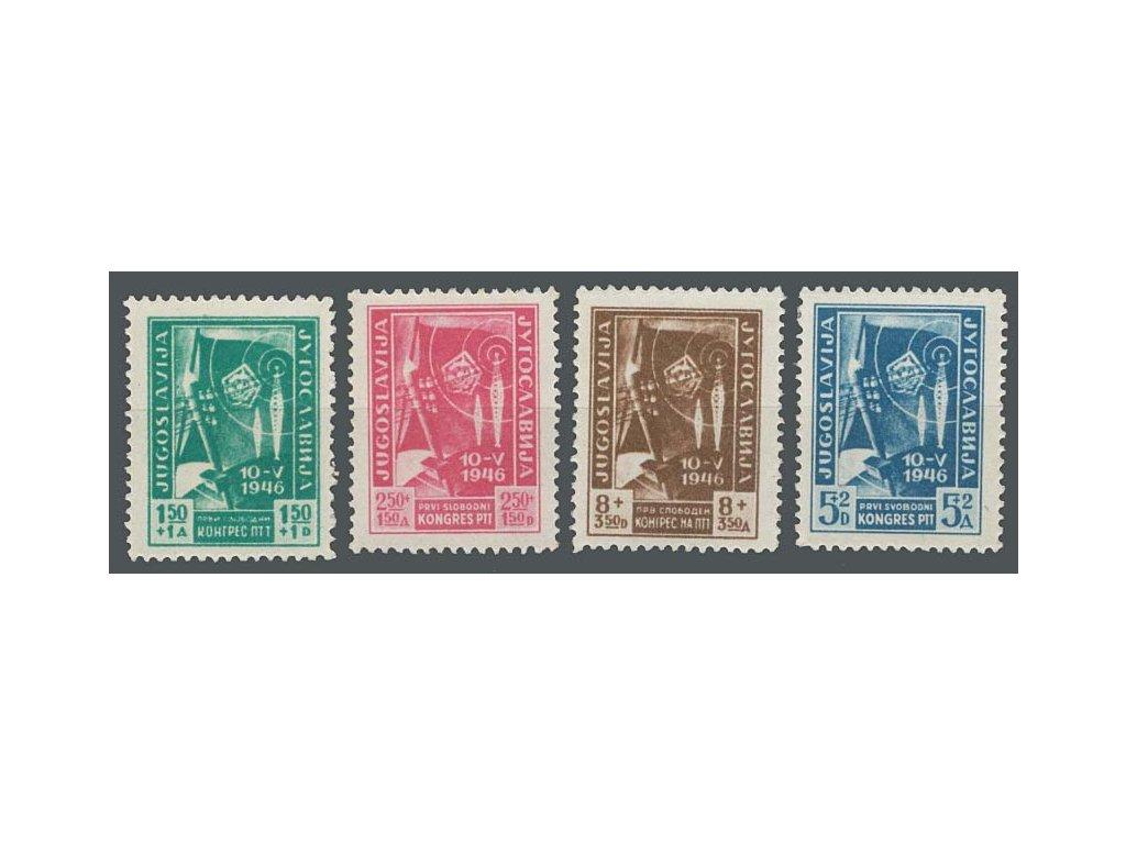 1946, 1.50-8 Din série Poštovní kongres, MiNr.497-500, **