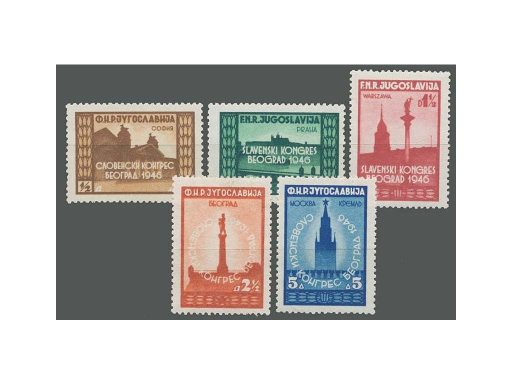 1946, 1/2-5 Din série Kongres, MiNr.507-11, **/*