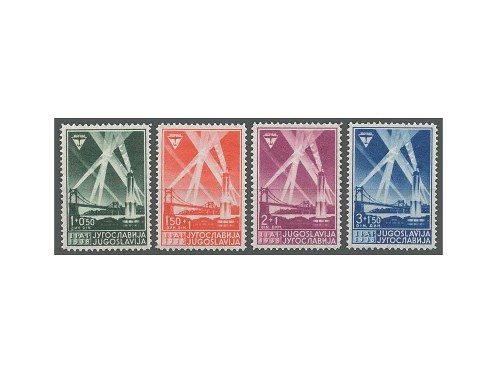 1938, 1-3 Din Výstavní série, MiNr.354-57, **/*