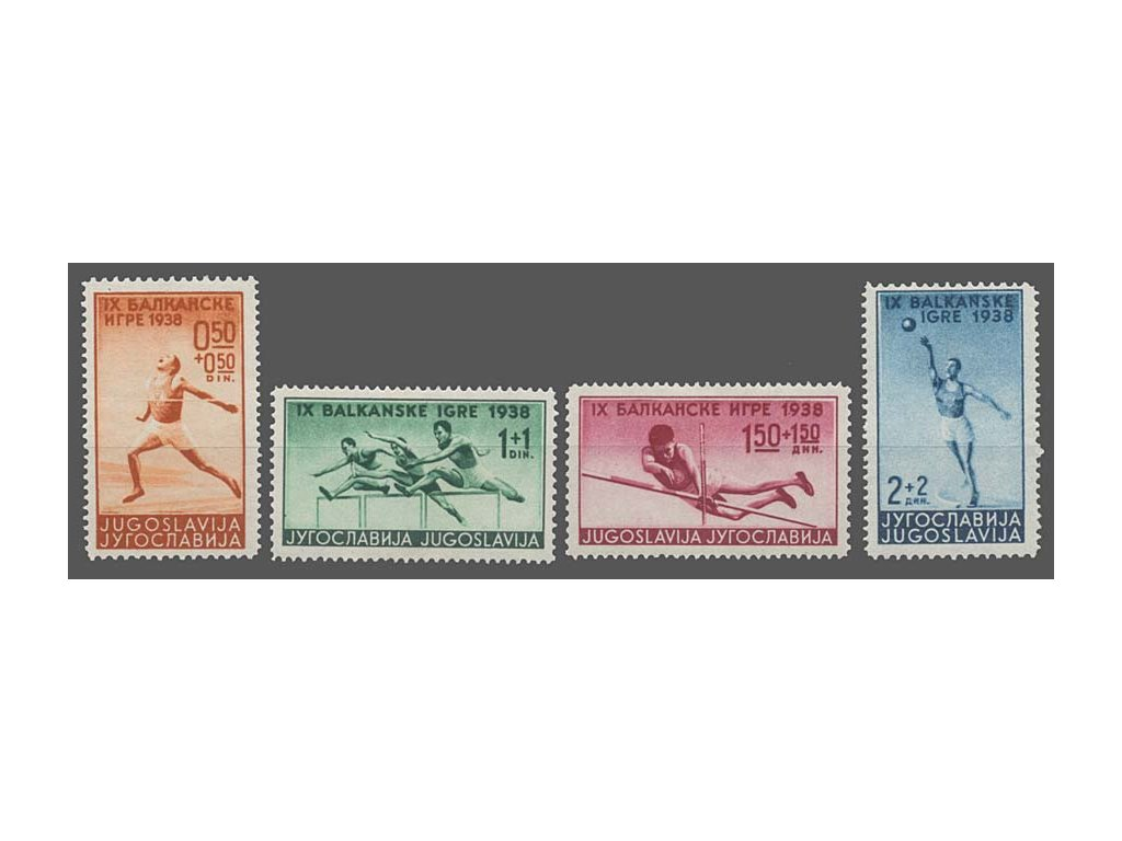 1938, 0.50-2 Din série Sport, MiNr.362-65, **