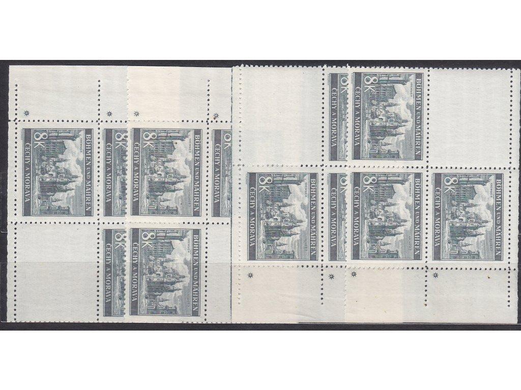 8K Kroměříž, roh. miniatura, křížek, VK1-4, **
