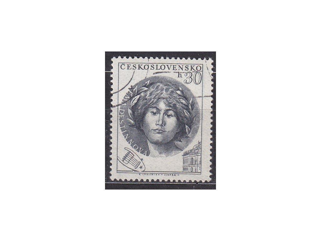 1953, 30h Destinová, III.typ, Nr.757, razítkované, ilustrační foto