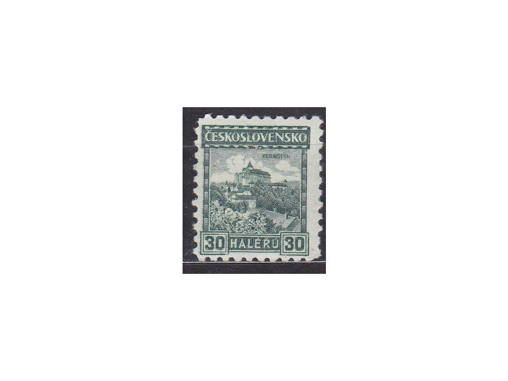 1926, 30h Pernštejn, lep bez pruhů, Nr.217a, * po nálepce