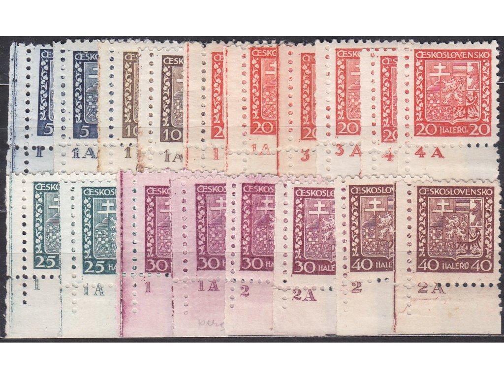 5-40h Znak, 18 ks roh. kusů s DČ, každé jiné, Nr.248-53, **/*