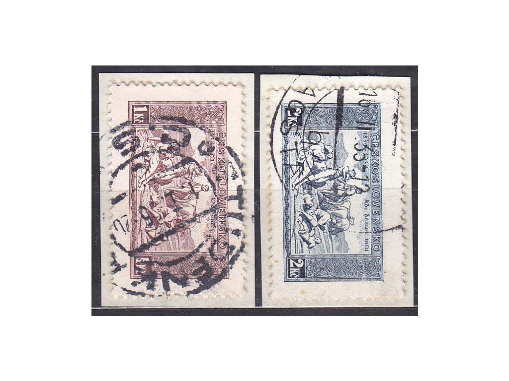 1-2Kč KDM, výstřižky se zn. z aršíku, Nr.283-4