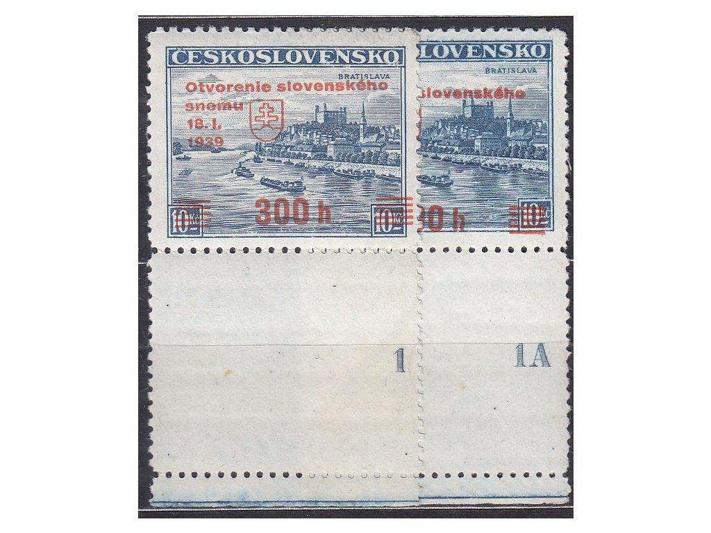 300h/10Kč Sněm, dolní kupony s DČ 1,1A, Nr.350, **