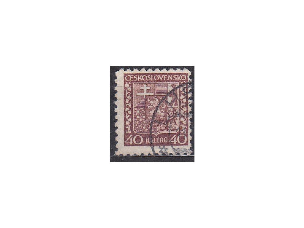1929, 40h Znak, pergamenový papír, Nr.253x, razítkované