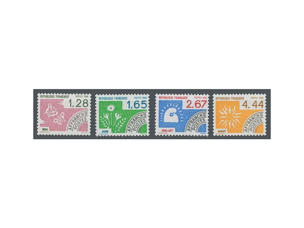 1986, 1.28-4.44Fr série Vorausentwertung, MiNr.2527-30, **