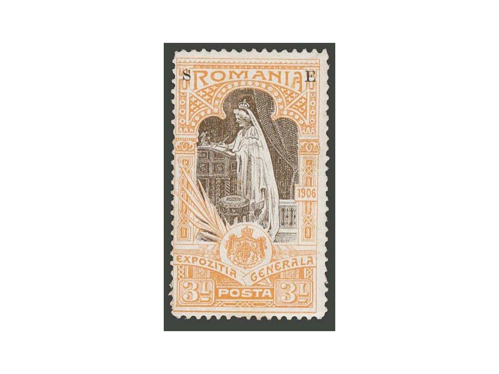 1906, 3 L služební, MiNr.XI, * po nálepce, lom v rohu