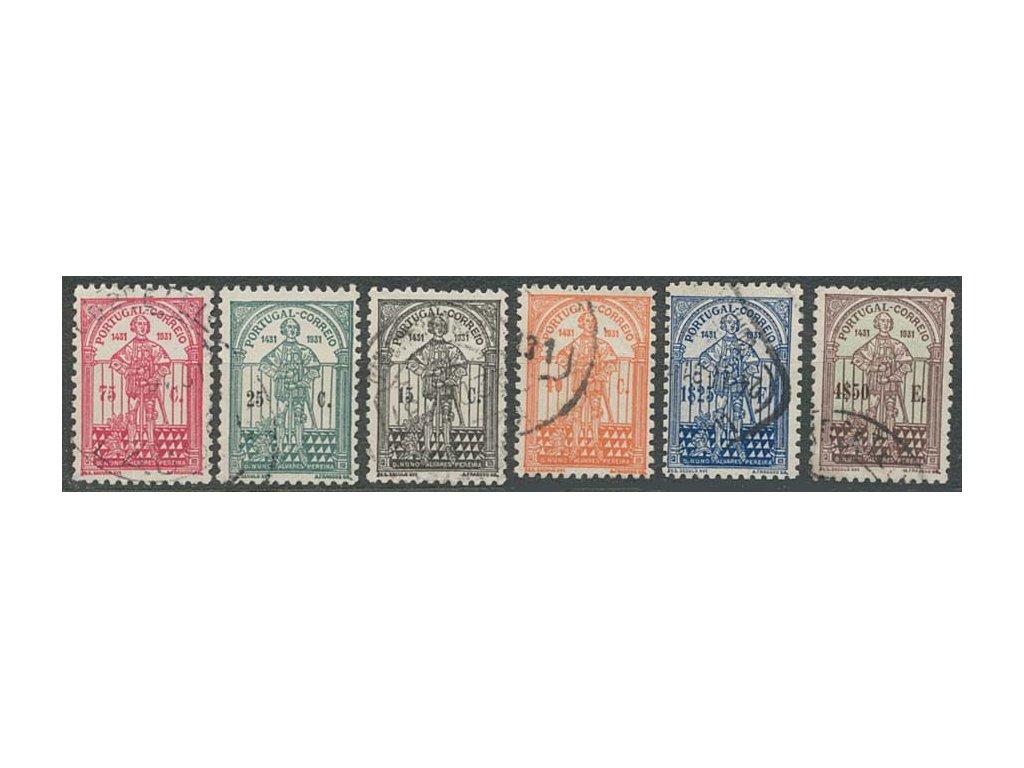 1931, 15C-4.50E série Pereira, MiNr.559-64, razítkované