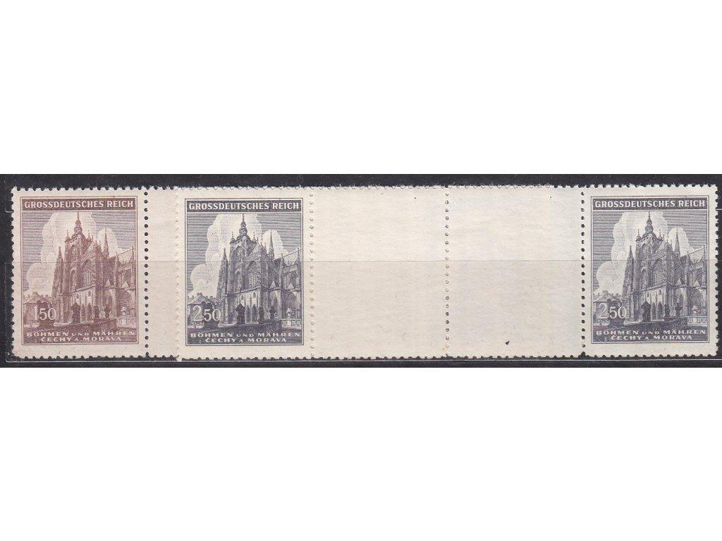 1944, 1.50-2.50K Chrám sv.Víta, meziarší, Nr.120-21, **