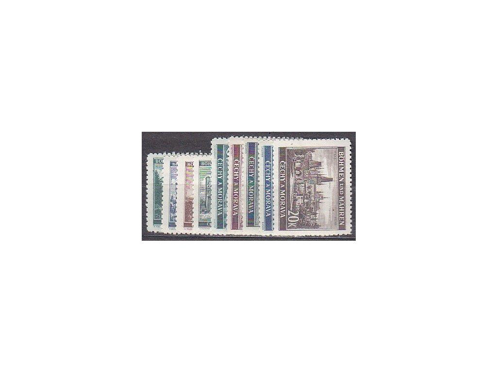 1940, 50h-20K Krajinky II, série, Nr.41-9, **